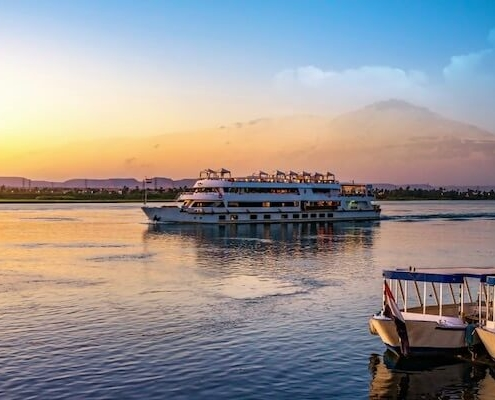 Luxury Nile Cruise and Stay - River Nile at sunset in Aswan