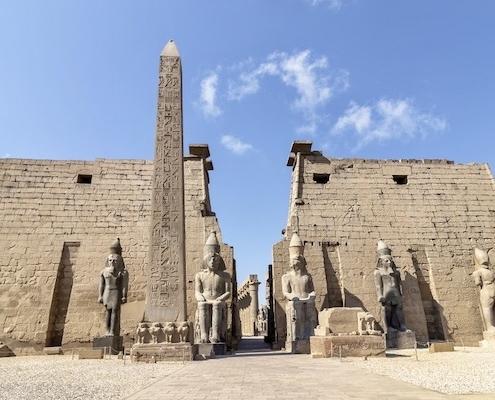 Egypt Jordan Tours from Australia - Entrance to Luxor Temple