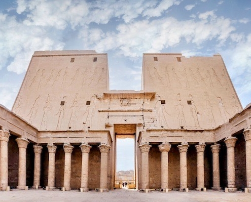 Egypt Tours from London - Interior view of Temple of Edfu