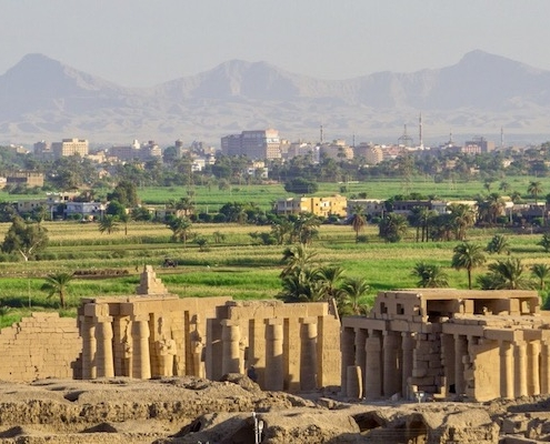 Luxury Egypt Tours from Australia - View of the Ramesseum Temple