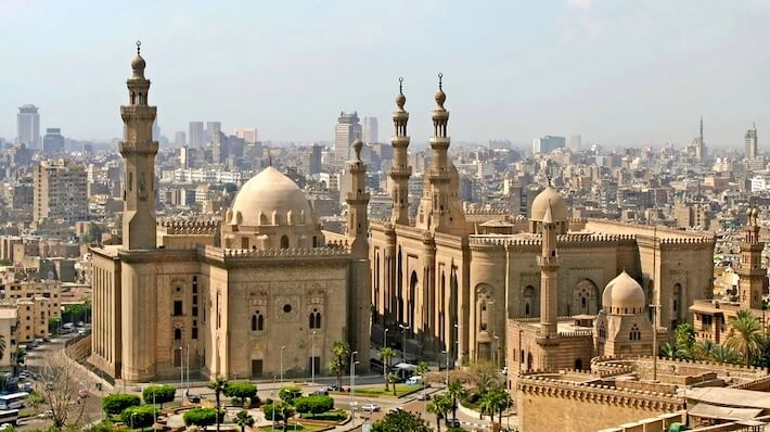 Luxury Egypt Tours - View over Cairo city with Mosque of Sultan Hassan