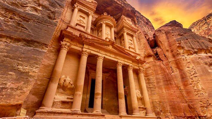 Luxury Egypt and Jordan Tours - Treasury at Petra, Jordan